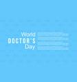 World doctor day celebration design for card