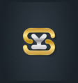 ys logo silver letter y and gold letter s vector image