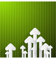 Paper Arrows on Green Background vector image