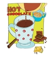 cup of hot chocolate vector image