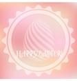 Pink easter logo vector image