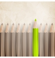 Pencils with tips facing EPS 10 vector image