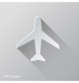 Airplane Flat Icon Design vector image