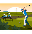 banners image of sports equipment for golf vector image