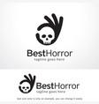best horror logo template design emblem design vector image