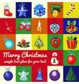 big set of christmas tree toys vector image vector image
