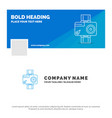 blue business logo template for camera action vector image