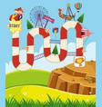 boardgame design template with kids in circus vector image vector image