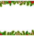 Border Fir Tree Branches Background vector image vector image