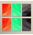 Bright abstract pictures on a white background vector image vector image