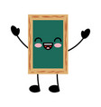 chalkboard school kawaii character vector image vector image