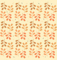 colorful leaves seamless pattern design vector image vector image
