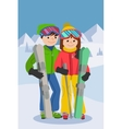 couple young people man vector image vector image