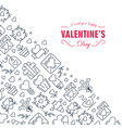 creative valentines day frame sketch composition vector image vector image