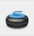 Curling stone isolated on a transparent background