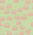 Cute cookies seamless pattern vector image