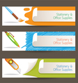 Cutter Pen Brush Objects Banner vector image vector image