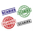 damaged textured scabies seal stamps vector image