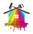 design for house painting vector image vector image