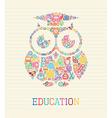 Education wisdom owl concept vector image vector image