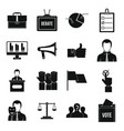 election voting icons set simple style vector image vector image