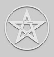 five-pointed star in a light style vector image vector image