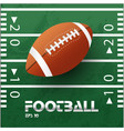 football text rugby ball green background i vector image vector image
