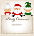 funny postcard with christmas elf mrs klaus and vector image vector image