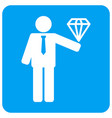 groom diamond rounded square icon vector image