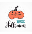 halloween party hand drawn modern set vector image