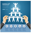 hand holding a paper cut people team vector image vector image