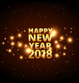 happy new year 2018 card design with glowing vector image vector image