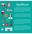 Healthcare and medical poster design vector image