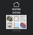 heating system design vector image vector image