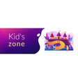 kids playground concept banner header vector image vector image