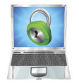 lock icon laptop concept vector image vector image
