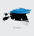 map of estonia vector image vector image
