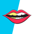 Mouth - Teeth Cleaning Symbol Retro Mouth Hygiene vector image
