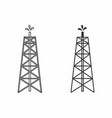 oil towers vector image