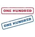 One Hundred Rubber Stamps vector image vector image