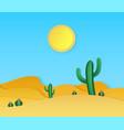 paper desert summer landscape with cut vector image vector image