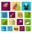 party entertainment flat icons in set collection vector image vector image