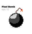 pixel bomb game vector image