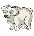 polar bear with dizzy eyes vector image
