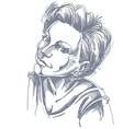 Portrait of delicate romantic good-looking woman vector image vector image
