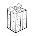 present box coloring book vector image vector image