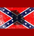Rebel civil war flag with georgia map