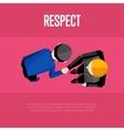 Respect banner Top view partners handshaking vector image vector image