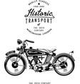 retro motorcycle with logo monogram graphic vector image vector image