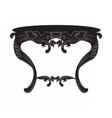 Rich Baroque commode Table vector image vector image